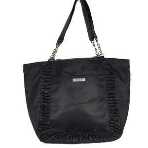Jessica Simpson Large nylon black tote purse bag